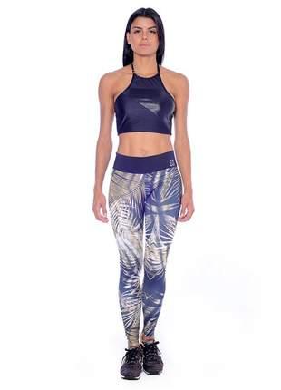 Calça gkb legging training estampado folhagem