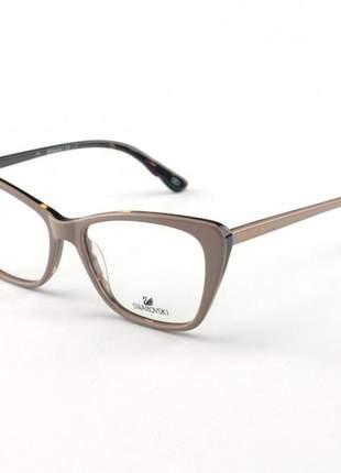 Oculos armação de grau swarovski sk5173 nude