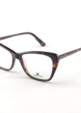 Oculos armação de grau swarovski sk5173 tartaruga