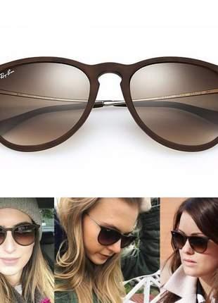 Óculos de sol ray ban erika rb4171 marrom