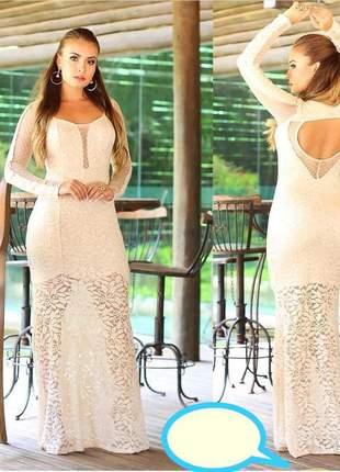 Vestido off white festa casamento civil m