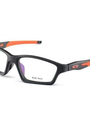 Armacao de óculos oakley crosslink preta e laranja