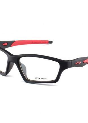 Armacao de óculos oakley crosslink preta e vermelho