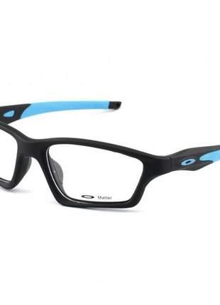 Armacao de óculos oakley crosslink preta e azul
