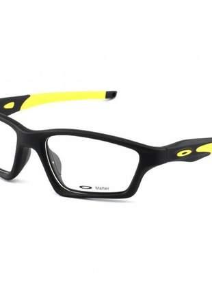 Armacao de óculos oakley crosslink preta e amarelo