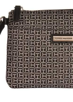 Clutch carteira bolsa de mão tommy hilfiger preta original