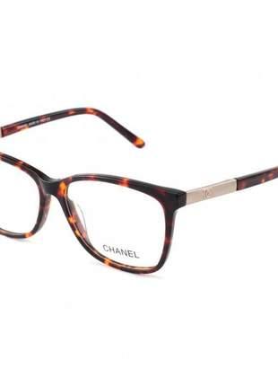 Oculos armação de grau chanel x3365 - marrom tartaruga