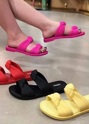 Sandália chinelo rasteirinha melissa slide velvet lançamento 2020