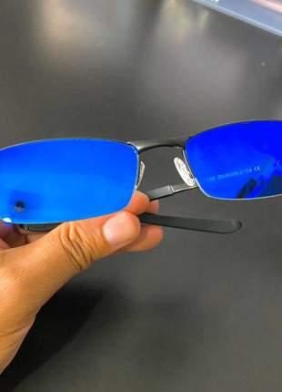 Óculos oakley lupinha lupa vilão fio nylon preto e azul escuro