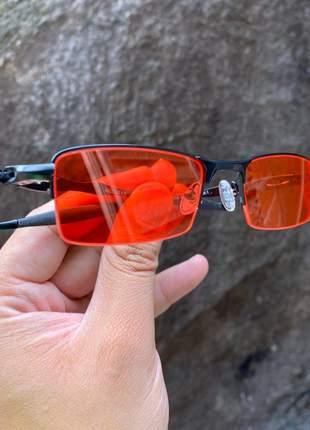 Óculos oakley lupinha lupa vilão fio nylon preta vermelha transparente