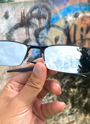 Óculos oakley lupinha lupa vilão fio nylon preta e cinza espelhada