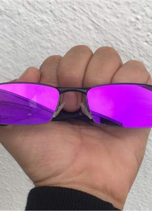 Óculos oakley lupinha lupa vilão fio nylon mc's preta e roxa