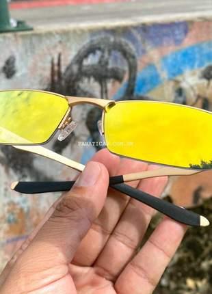 Óculos oakley lupinha lupa vilão fio nylon dourada 24k