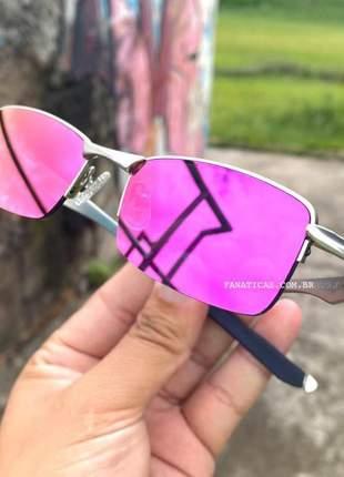 Óculos oakley lupinha lupa vilão fio nylon cinza e pink
