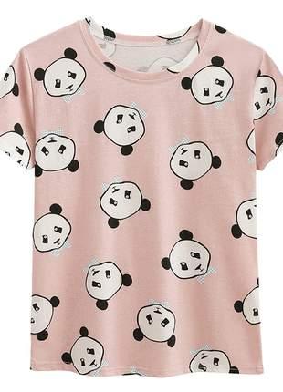 Tshirt feminina estampa panda