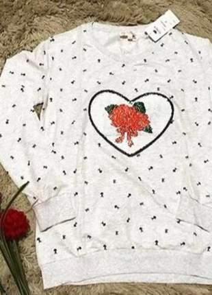 Casaco feminino blusa manga longa estampa mágica moda inverno top