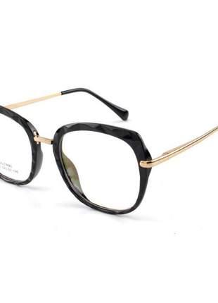 Oculos armação para grau gatinho mila - preta