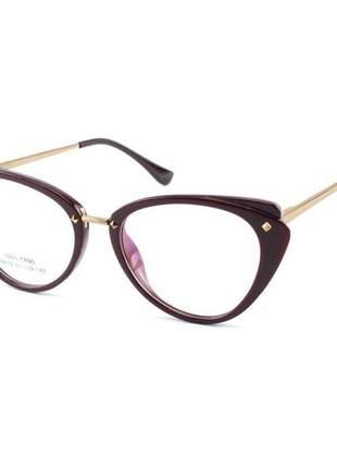 Oculos armação para grau gatinho ah - vinho
