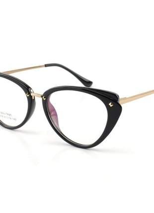 Oculos armação para grau gatinho ah - preta