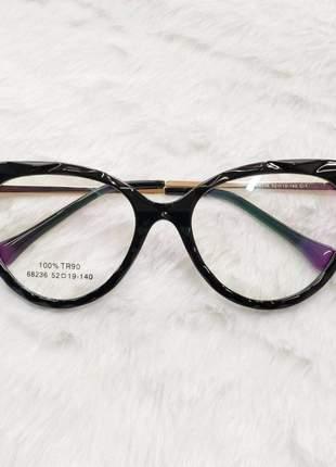 Oculos armação para grau gatinho lux - preto