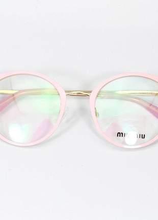 Óculos armação de grau - miu miu 51p - rosa