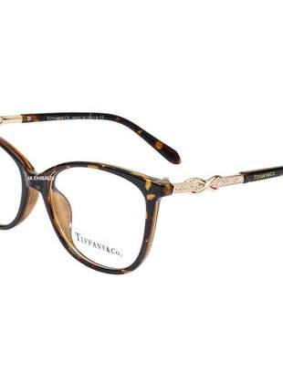 Óculos armação de grau tiffany & co infinito tf2143-b marrom tartaruga