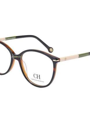 Óculos armação de grau - carolina herrera vhe669 marrom tartaruga