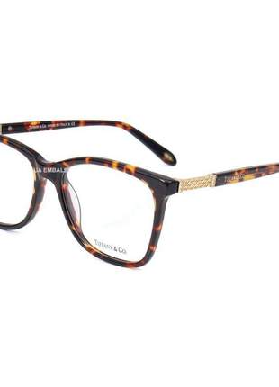 Oculos armação de grau - tiffany & co. - tf 2116b - marrom tartaruga