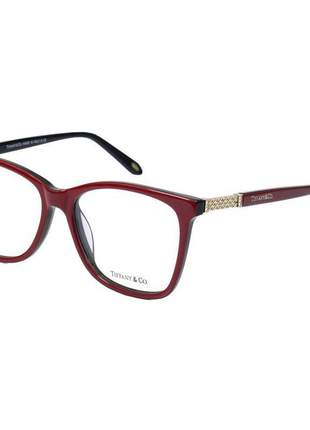 Oculos armação de grau - tiffany & co. - tf 2116b - vermelho e preto