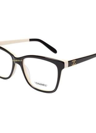 Oculos armação de grau chanel x3272 - marrom e creme