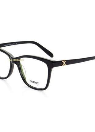 Oculos armação de grau chanel x3272 - preto