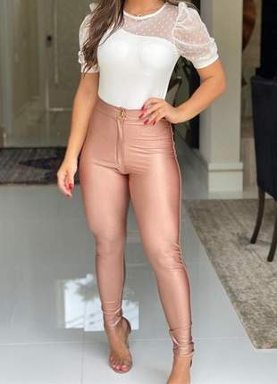 Calça disco rose skynny emilly