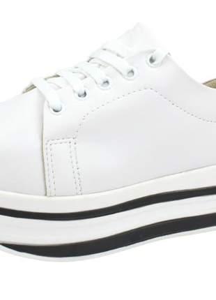 Tênis menina de marte plataforma branco