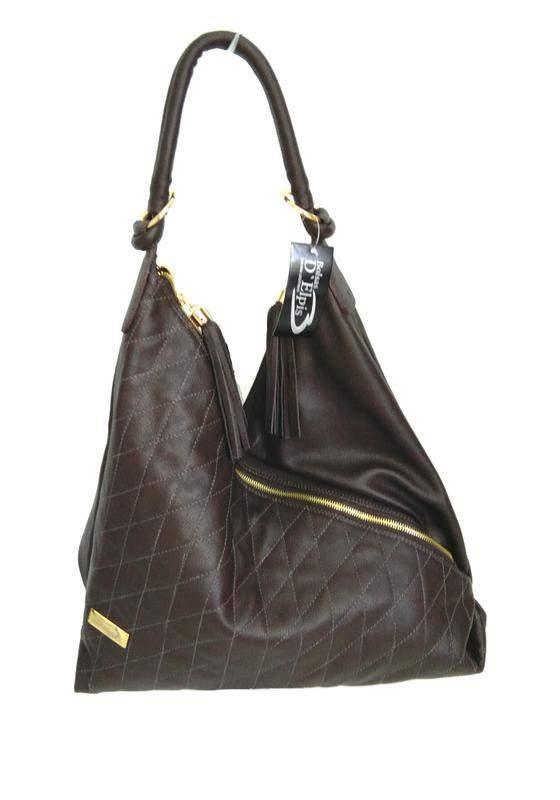 c5d433339 Bolsa saco de ombro couro legítimo d'elpis - ref 8086 café - R ...