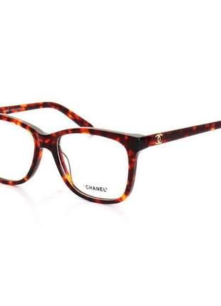 Oculos armação de grau chanel x3272 - marrom tartaruga