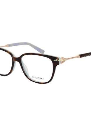Oculos armação de grau - tiffany & co. - tf 2324 - tartaruga e verde