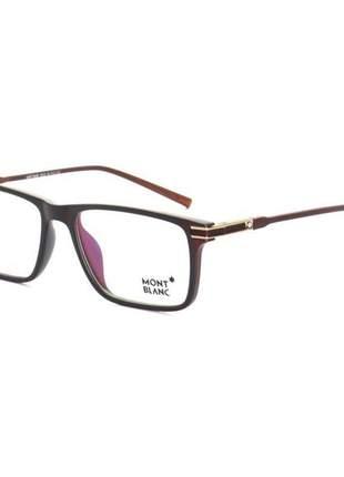 Armação de óculos quadrada masculina mont blanc ape229 - marrom