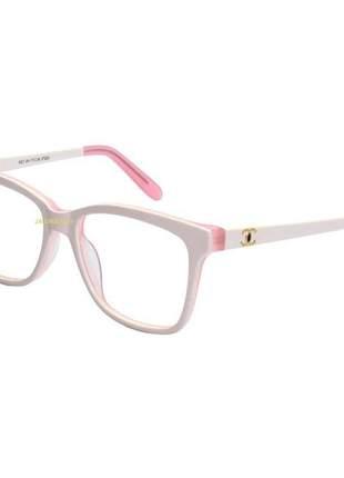 Oculos armação de grau chanel x3272 - branca e rosa