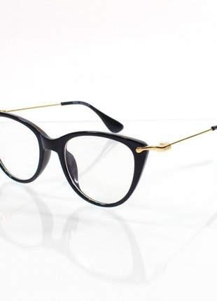 Óculos armação de grau - miu miu preto