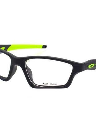 Óculos armação de grau - oakley crosslink preta e verde limão