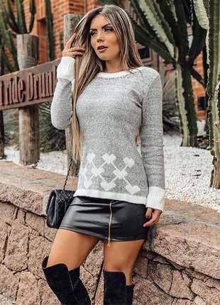 Blusa de tricot cinza juliana