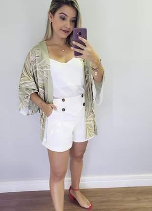 Kimono folhagem