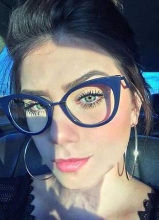 Oculos armação de grau - fendi stille azul escuro
