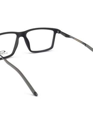 Armacao de óculos masculina oakley ox9003 preta e cinza