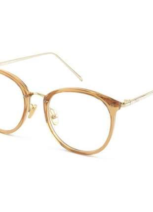 Armacao de óculos redonda feminina dior 2334 cd dourado