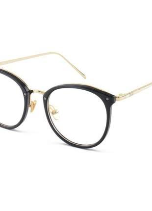 Armacao de óculos redonda feminina dior 2334 cd preto