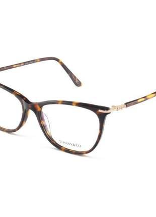 Armação de óculos feminino tiffany & co. tf8014 marrom tartaruga