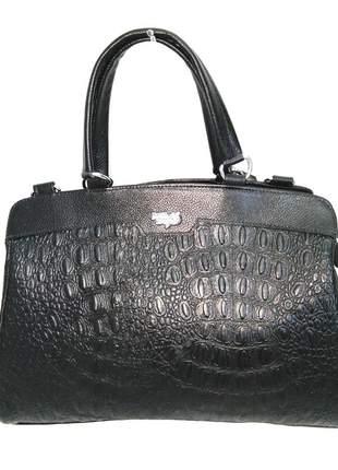 37413e31f Bolsa de mão com alça longa couro legítimo d'elpis - ref 8123 preto