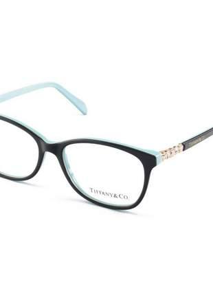 Armação de óculos feminino tiffany & co. tf2131 preto e azul