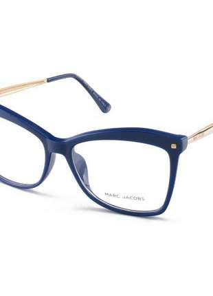 Armação de óculos quadrada marc jacobs mj2016 azul